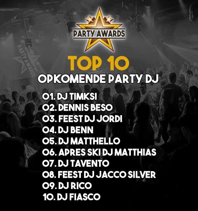 DJ Benn 4e plek Party Awards 2019